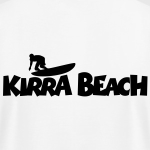 Kirra Beach Surf T-Shirt (Back) - Men's T-Shirt by American Apparel
