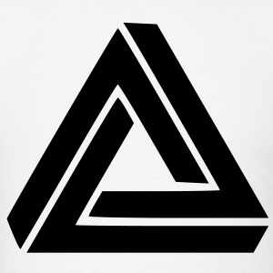 Triangle Visual Illusion T-Shirts - Men's T-Shirt