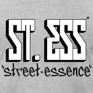 Original STREET ESSENCE Block Logo - wht with blk - Men's T-Shirt by American Apparel
