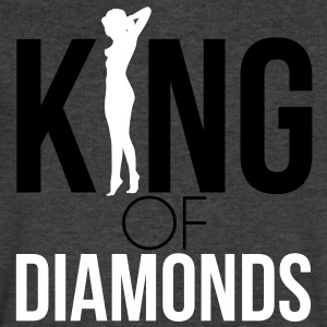 KING OF DIAMONDS T-Shirts - Men's V-Neck T-Shirt by Canvas