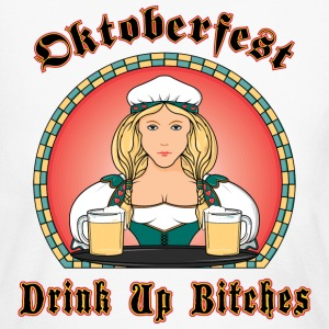 Drink Up Bitches Oktoberfest T-Shirt - Women's Long Sleeve Jersey T-Shirt