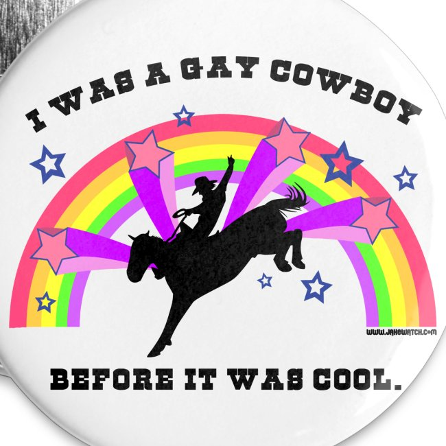 """Gay Cowboy 1"""" Buttons"""