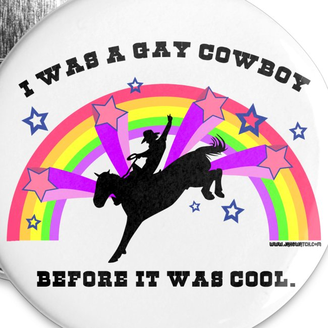"""Gay Cowboy 2.25"""" Buttons"""