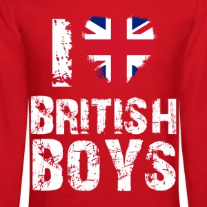 i love british boys Long Sleeve Shirts - Crewneck Sweatshirt