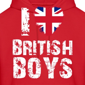 i love british boys Hoodies - Men's Hoodie