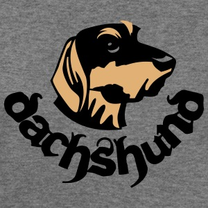 dauchshound head - Women's Wideneck Sweatshirt