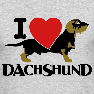 I love dachshound 1 - Men's Long Sleeve T-Shirt by Next Level