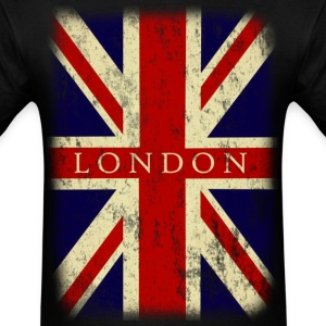 Vintage UK London Flag - Men's T-Shirt