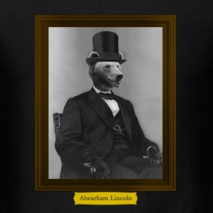 Framed Abearham Lincoln T-Shirts - Men's T-Shirt