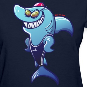 Olympic Swimmer Shark Women's T-Shirts - Women's T-Shirt