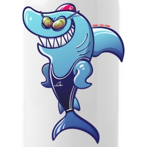 Olympic Swimmer Shark Accessories - Water Bottle