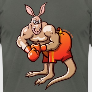 Olympic Boxing Kangaroo T-Shirts - Men's T-Shirt by American Apparel