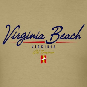 Virginia Beach Script Standard Weight T-Shirt - Men's T-Shirt