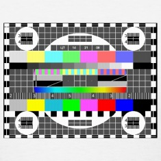 tv test signal pattern tee shirt t-shirt