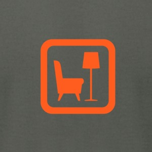 library orange - Men's T-Shirt by American Apparel