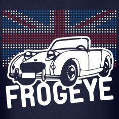 Austin-Healey Frogeye Sprite mk1 Union Jack illustration and text