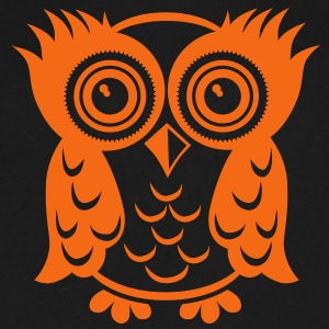 owl T-Shirts - Men's V-Neck T-Shirt by Canvas