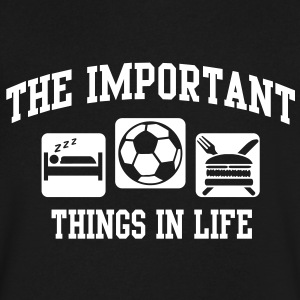 the important things in life T-Shirts - Men's V-Neck T-Shirt by Canvas