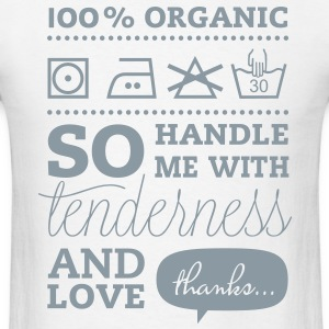 Typographic Laundry Tag TLC Tender Love Care valentines day bachelorette birthday shirt T-Shirts - Men's T-Shirt