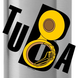 Slanted Tuba Text - Water Bottle