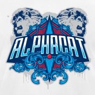 Design ~ Alphacat White Tee by American Apparel