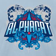 Design ~ Alphacat Light Blue Tee by American Apparel