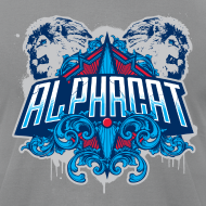 Design ~ Alphacat Slate Grey Tee by American Apparel