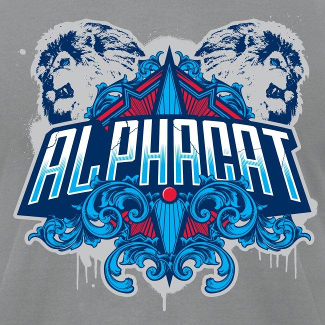 Alphacat Slate Grey Tee by American Apparel
