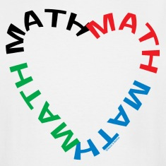 Math Text Heart   T-Shirts