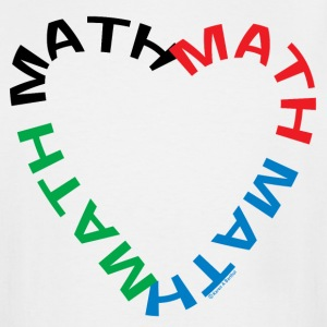 Math Text Heart   T-Shirts - Men's Tall T-Shirt
