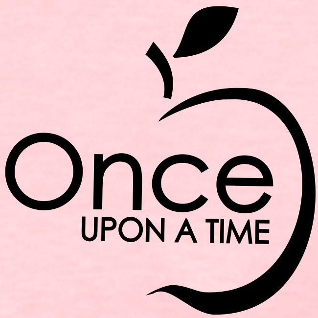 Once Upon A Time w/ Apple Tee (no back) BLACK ink