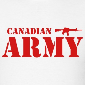 White Canadian Army Men - Men's T-Shirt