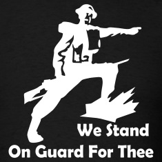 Black We Stand On Guard For Thee Men