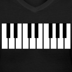 keyboard Women's T-Shirts - Women's V-Neck T-Shirt