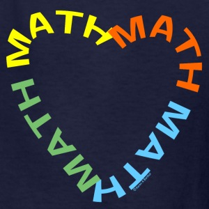 Math Text Heart   Kids' Shirts - Kids' T-Shirt
