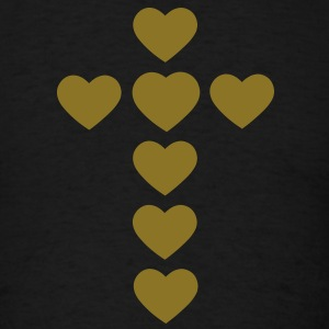 hearts - cross T-Shirts - Men's T-Shirt