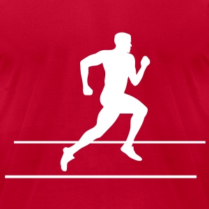 Runner, Running, Sprinter T-Shirts - Men's T-Shirt by American Apparel