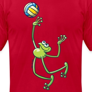 Olympic Volleyball Frog T-Shirts - Men's T-Shirt by American Apparel