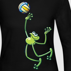 Olympic Volleyball Frog Long Sleeve Shirts - Women's Long Sleeve Jersey T-Shirt