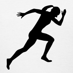 Runner, Female Sprinter, Running Women's T-Shirts