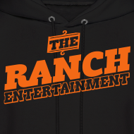 Design ~ Original Men's Hoodie 1 Orange on Black