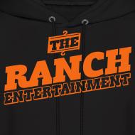 Design ~ Original Men's Hoodie 1 Orange on Black