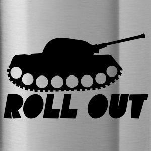 Military ROLL out funny tank commander design  Accessories - Water Bottle