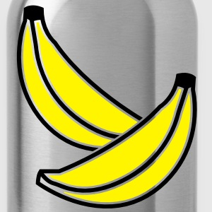 BANANA fruit two bananas 2 color Accessories - Water Bottle