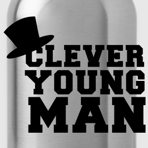 clever young man with a top hat educated Accessories - Water Bottle