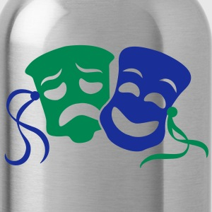 happy sad masks symbol of the theatre acting Accessories - Water Bottle