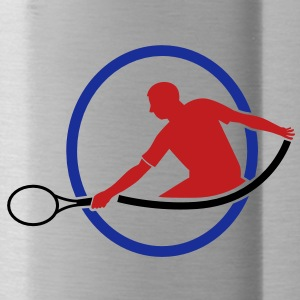 tennis man hitting swing hit Accessories - Water Bottle