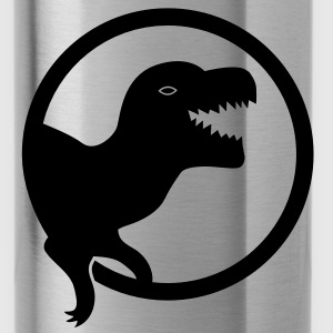 MEAN dinosaur roaring in a circle Accessories - Water Bottle