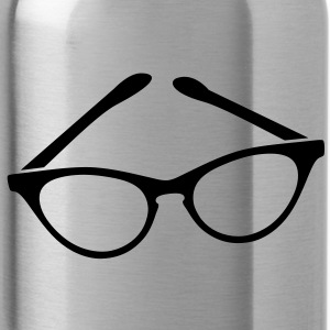 retro funky seeing eye cat eyes glasses librarian Accessories - Water Bottle