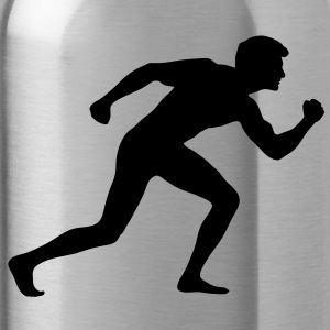 muscle man bending stretching flexing solid Accessories - Water Bottle